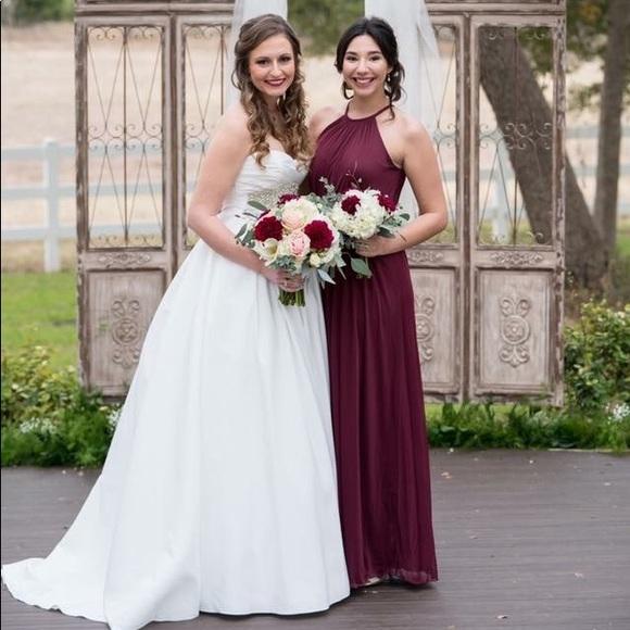 64636440262 David s Bridal Dresses   Skirts - David s bridal wine colored bridesmaid  dress
